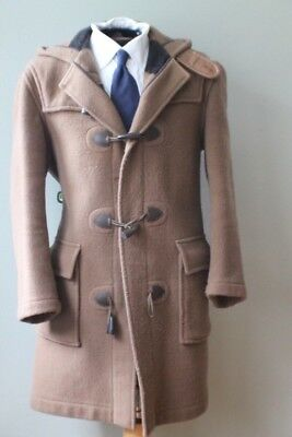 Brooks Brothers BB Makers England Camel Color Wool Toggle Coat Unline Horn Btns