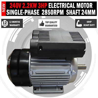 Electrical Motor single-phase 240v 2.2kw 3HP shaft 24mm Air compressor