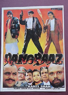 Press Book Indian Movie Promotional Song Booklet Pictorial Rangbaaz 1996