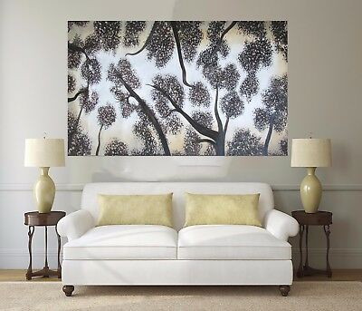 Tree's Of Heaven  140cm  original Art Oil Painting Large aboriginal  Landscape