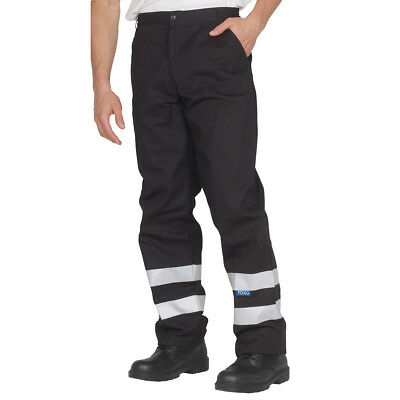 Yoko Reflective Work Trousers Men's Safety Workwear Pants Hi Vis Stripes (YK015)