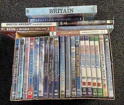 War Aircraft  DVD JOB LOT 26 DVDs 19 NEW SEALED 7 USED but in good condition