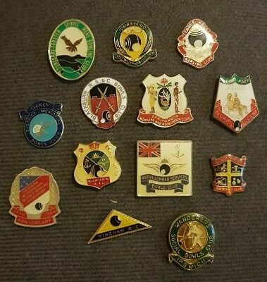 13x Bowls Badges **CLASPS REMOVED**