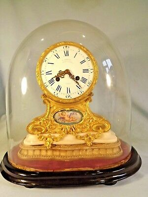Fabulous French Ormolu Drumhead Clock & Dome.
