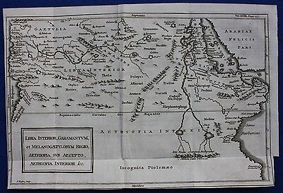 Original antique map ANCIENT NORTH AFRICA, LIBYA, ETHIOPIA, NILE, Basire, 1747