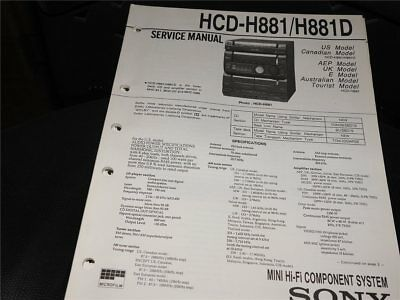 Service Manual  Sony  HCD-H881/H881D