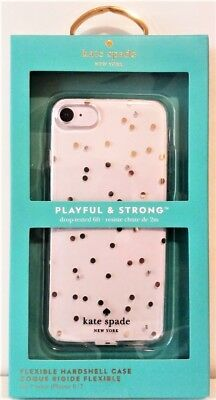 Kate Spade New York Flexible Hardshell Case iPhone 8 / 7 - Gold Dots with Gems