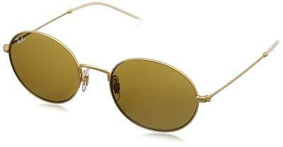 282331e290 Ray Ban RB3594-901373-53 Beat Oval Sunglasses Gold Frame Brown Classic Lens