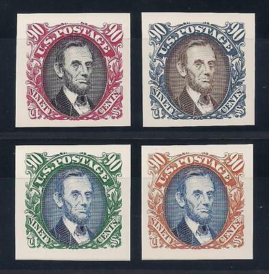Abraham Lincoln - Complete Set Of 4 U.s. Postage Stamps - Mint Condition