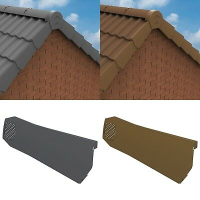 Universal Manthorpe Dry Verge System for Gable Apex Roof Tile Plastic End Cap