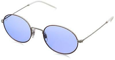 211d4e1ecba Ray Ban RB3594-9112D1-53 Beat Oval Sunglasses Bordeaux Silver Dark Violet  Lens