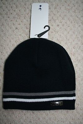 7a622d00b4b Tottenham Hotspur beanie hat adult navy blue with stripes and THFC badge