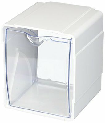 Deflecto[r] 421103cr Tilt Bin[r] Interlocking Storage Organizer, 4 Pk