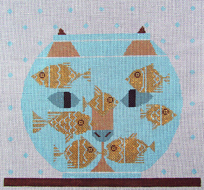 HP Needlepoint 18ct MEREDITH COLLECTION/CHARLEY HARPER Fishful Thinking-ML244