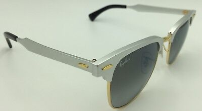 6034c80ff9 NEW RAY BAN RB3507 137 40 51mm CLUBMASTER ALUMINUM BRUSHED SILVER ...