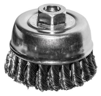 """Century Drill & Tool 76062 6"""" Knotted Wire Cup Brush 5/8-11 Arbor"""