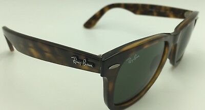 4c44dcd8a6 RAY-BAN RB 4340 710 Wayfarer Sunglasses - Tortoise w Green 50mm ...