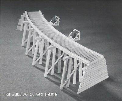 Campbell Scale Models 303 HO 70' Curved Trestle