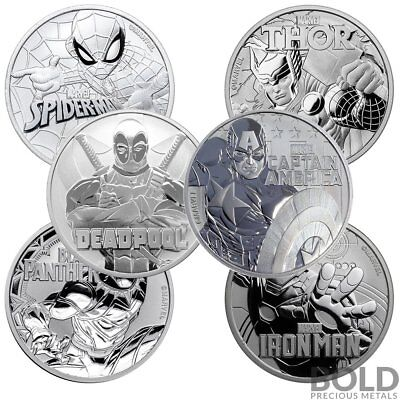 BOLD Set: Tuvalu Marvel 6 Coin Collector Set