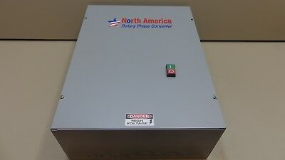NEW North America Rotary Phase Converter 60 HP 208/240 Volts 1 Phase / 3 Phase