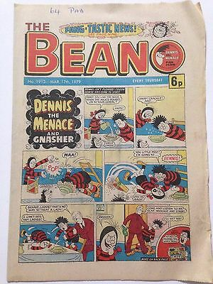 DC Thompson THE BEANO Comic. Issue 1913 March 17th 1979 **Free UK Postage**