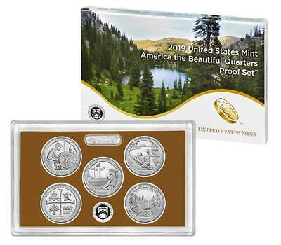 2019 S National Parks America the Beautiful Mint Clad Proof Set in the Box w/CoA
