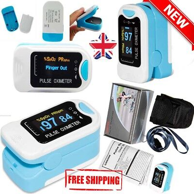 Finger Pulse Oximeter Blood Saturation Monitor Heart Rate Oxygen Meter With OLED