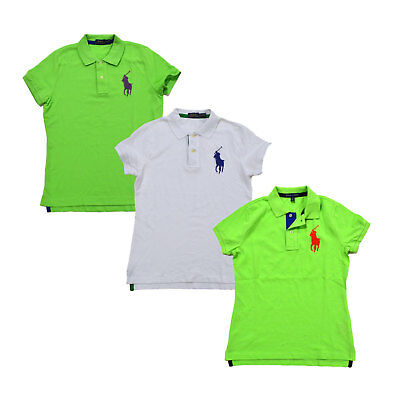 Ralph Lauren Womens Polo Shirt Big Pony Logo Collared Mesh Top Xs S M New Nwt Rl
