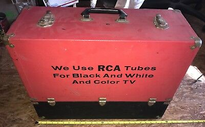Lot of Radio TV Amplifier Tuner Receiver Vacuum Tubes and RCA Tube Caddy