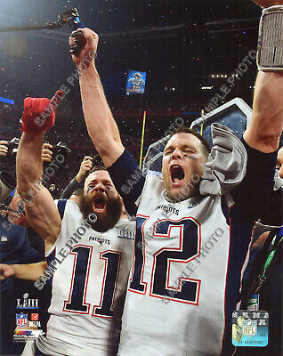 Tom Brady Edelman New England Patriots 2019 Super Bowl 53 Champs 8X10 Photo