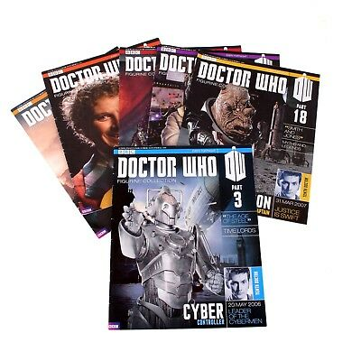 Eaglemoss - Bundle Of 7 Doctor Who Figurine Collection Magazines - 2006