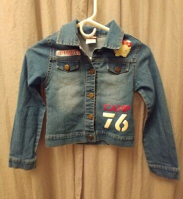 956427732 7 FOR ALL Mankind Hello Kitty Button Down Denim Jean Jacket Size M ...