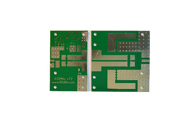 PCB for 500w 1kw UHF LDMOS amplifier 432 MHz, TC-350 board material