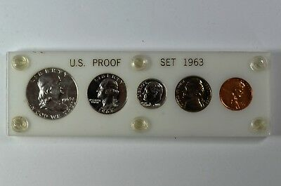 1963 US Proof Set In White Capital Holder