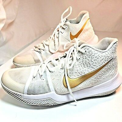 b7e6883783b Nike Kyrie 3 Finals White Gold Mens Size 12 MODEL 852395-902 Basketball  Shoes