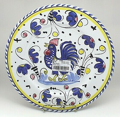 Sberna Deruta Italy 11 1/2 Inch Dinner Plate (New with Tag)