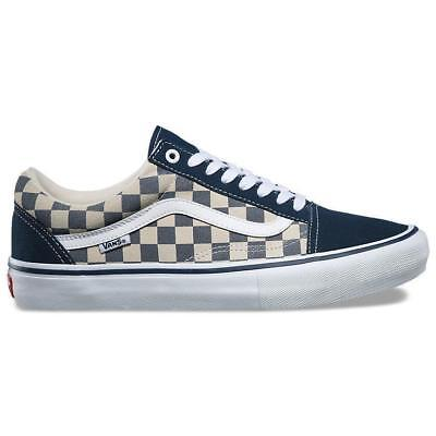 ba56b36acf Vans Old Skool Pro Checkerboard Dress Blues White Men s Skate Shoes Size 13