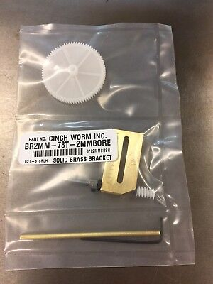 Worm Gear Set 2Mm Shaft Diy Maker Adjustable Brass Cinch-Worm Bracket 78:1  !