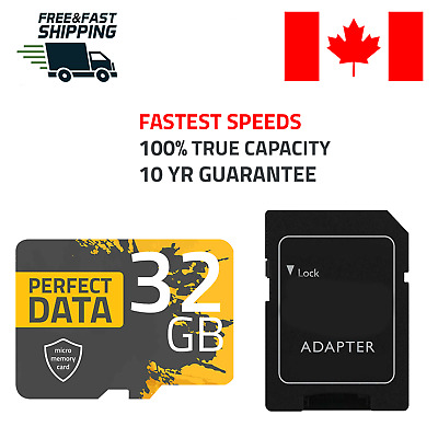 Micro SD Card 32GB High Speed MicroSD UHS-I U1 Flash TF Class 10 32 GB Adapter