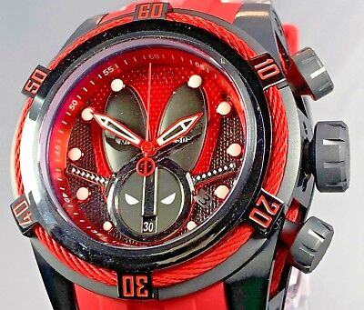 Invicta 27152 Reserve 52mm Marvel Deadpool Bolt Zeus Swiss Chronograph Watch