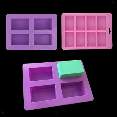 2 Pieces Silicone Soap Making Mold Handmade Chocolate Cake Baking Mould Tool
