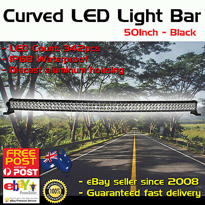 50inch Cree Curved LED Light Bar Spot Beam Work Driving 4WD Truck SUV 52inch