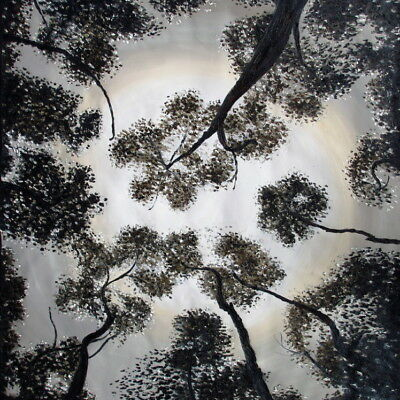 "16"" framed original trees forest woods art Print  canvas by jane Aboriginal"
