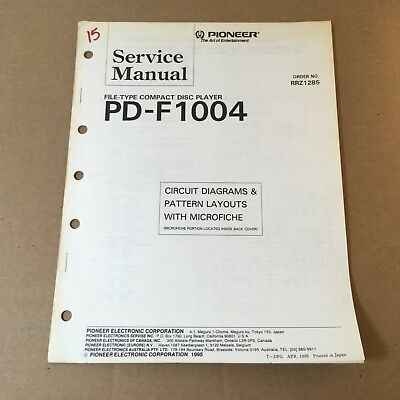 Pioneer Service Manual Circuit Diagrams Microfiche RRZ1285 PD-F1004