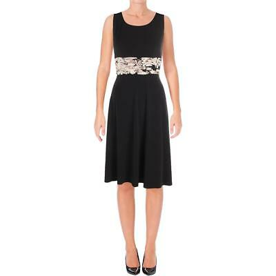 a5a9fb104fc50 Jessica Howard Womens Black-Ivory Ruched Cocktail Dress Petites 12P BHFO  1989