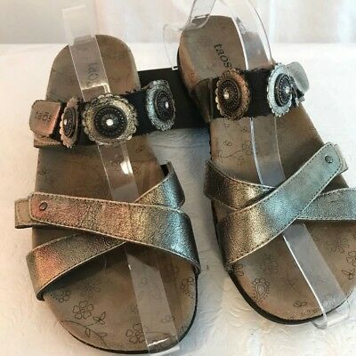 0e95abf9ab3 TAOS WOMENS SANDALS Size 8 Prize Slip On Slide Leather Sandal ...