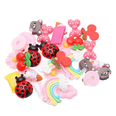 30 Pack Harz Flatback Cabochons Decoden Slime Charms DIY Handyhülle Craft