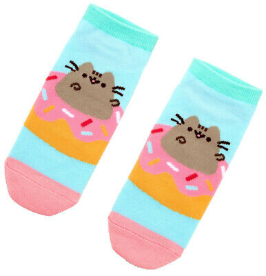 Pusheen Donut No Show Socks - One Size Fits Most - New