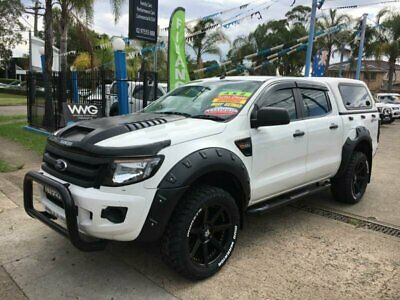 2013 Ford Ranger PX XL White Automatic A Utility
