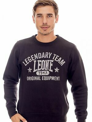 Sweatshirt Leone 1947 Lsm1530 9 Black Man Fleece Round Neck Mode Fashion